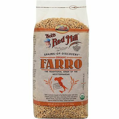 BOB'S RED MILL ORGANIC FARRO FOOD COOKING LUNCH DINNER DAILY 24 oz (680 g)