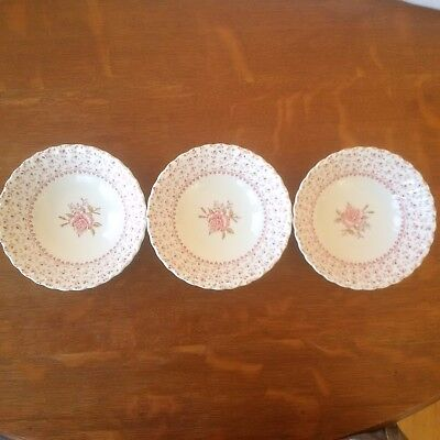 Johnson Brothers Rose Bouquet Cereal Bowls (3)