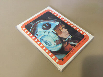 Star Wars Series 5 (Orange) - Complete Card Sticker Set (45-55) 1977 @ Near Mint