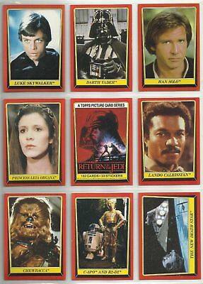 Star Wars Return of the Jedi S1 - Complete Card Set (1-132) 1983 @ Near Mint
