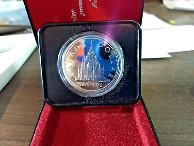 1976 Canadian mint Silver Dollar coin Library Of Parliament collecting hot deal