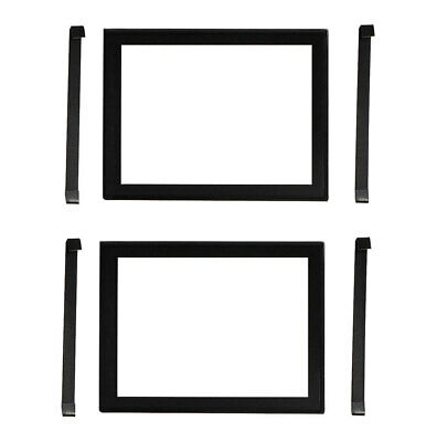 Number Plate Covers 2 Figure Black Border Clear One Pair Metal Bracket Clips