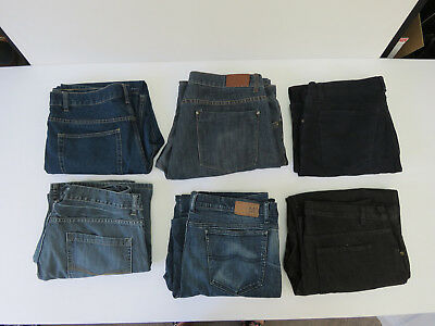 07 - BULK LOT OF 6 PAIRS Denim JEANS JEANSWEST YD ETC MENS ALL SIZE 40