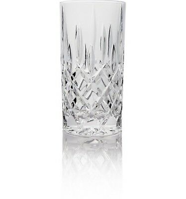 New Nachtmann Noblesse Long Drink Box Of 4 Non-Lead Crystal Glass Diamond Cut