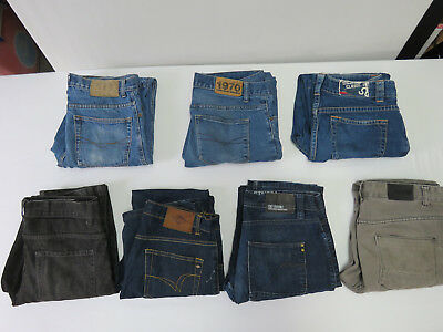 10 - BULK LOT OF 7 PAIRS Denim JEANS INDUSTRIE LEE COOPER ETC MENS ALL SIZE 32