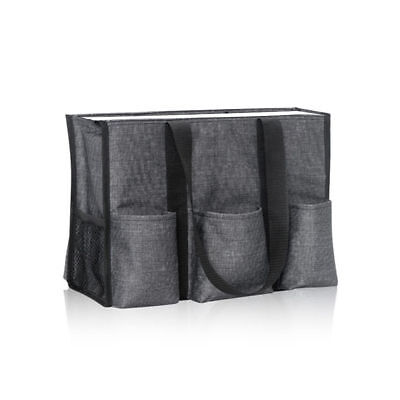 BN Thirty One Zip top Organizing utility storage Tote bag in Black 31 gift new