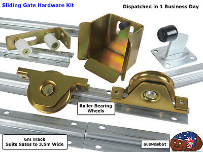 Sliding Gate Hardware Kit*6 m Track*Wheels Rated 300kg Fence Entry Free Bonus