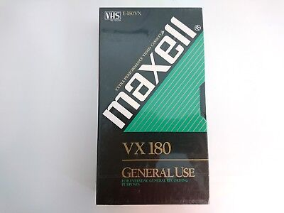 MAXELL E-180 VX VHS Blank Tape PAL SECAM SEALED