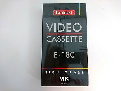 KRUIDVAT E-180 High Grade VHS Blank Tape PAL SECAM SEALED