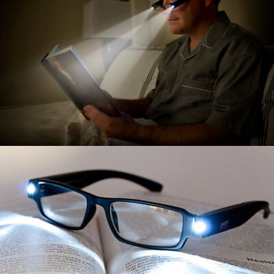 1.0to4.0 LED Light Reading Glasses Eyeglasses Magnetic Therapy Health Spectacles