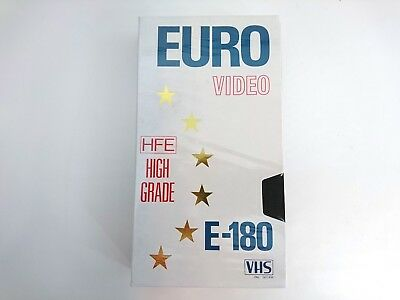 EURO E-180 High Grade VHS Blank Tape PAL SECAM SEALED