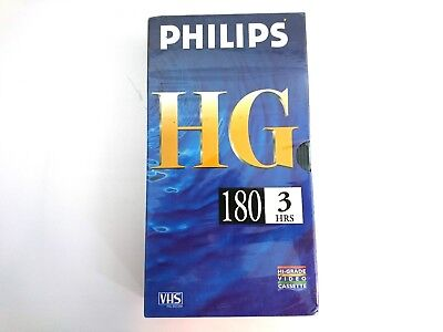 PHILIPS HG 180 High Grade VHS Blank Tape PAL SECAM SEALED