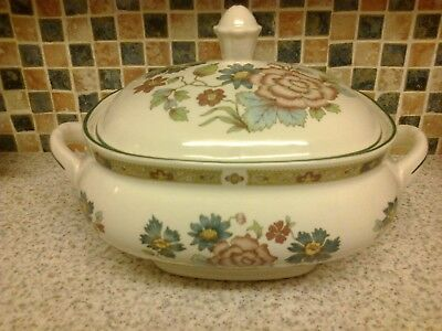 Staffordshire Franciscan Orient Dynasty Collection 2 Handles Serving Dish Tureen