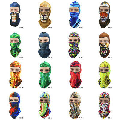3D Animal Colorful Outdoor Cycling Ski Hat Balaclava Motorcycle Full Face Mask