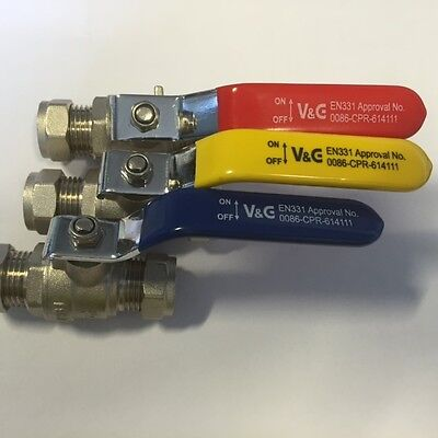 Brass Ball Valves Compression Ends 15mm, 22mm, 28mm - various options