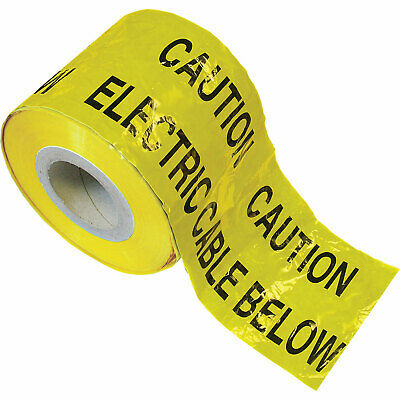 Faithfull Electric Cable Warning Tape Yellow 150mm 365m