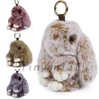 Fur Bunny Fluffy Rabbit Keyring Bag Charm Pendant Keychain Handbag Phone New
