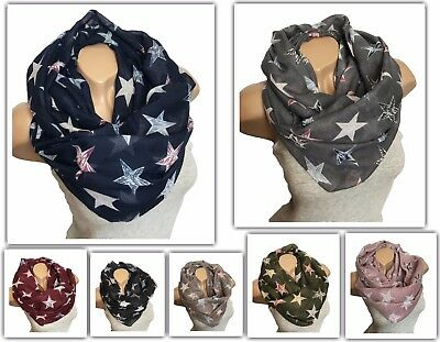 NEW Star Loop Cotton Plain Round Scarf Shawl Scarf Shawl Fashion NEW