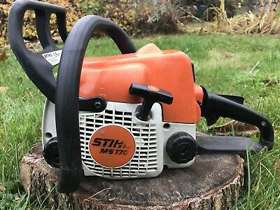 """Stihl MS170 Petrol Chainsaw - 14"""" New Bar And Chain - Serviced"""