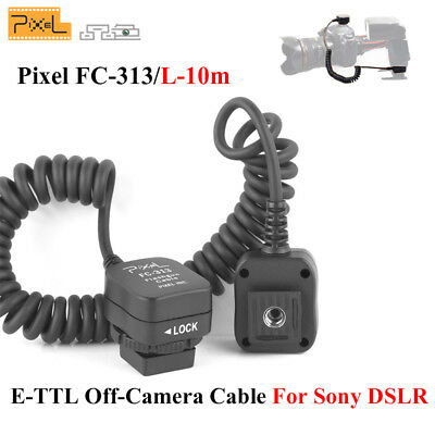 PIXEL FC-313/10M TTL-Off-Camera Flash Cord, Compatible with Sony DSLR Camera