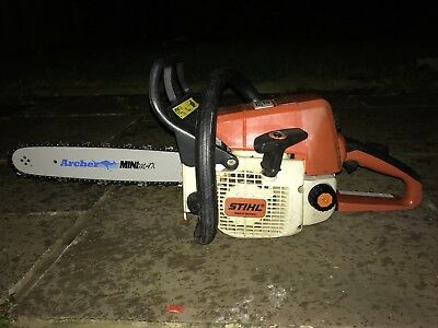 """Stihl 021 (older MS210) Petrol Chainsaw - 14"""" New Bar And Chain - Serviced"""