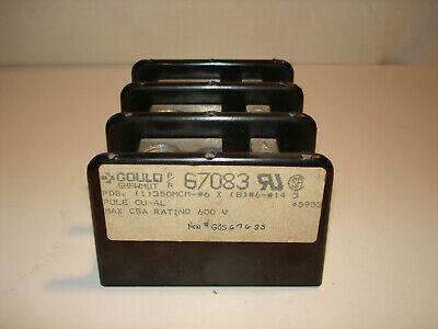 *NEW* Gould Shawmut 67083 Fuse Block  3 Pole CU-AL 600V *NEW*