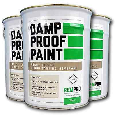 Rempro Professional Wall & Floor Damp Proof Paint - Liquid Water Proofing