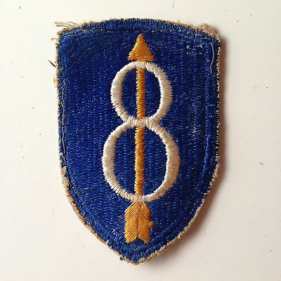 Wwii Us Army 8Th Infantry Division 8 Up Patch