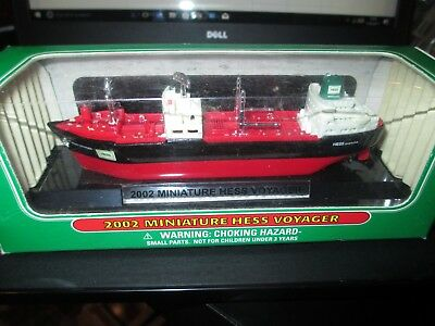 Hess Toy Trucks   Voyager Ship Boat Mib 2002
