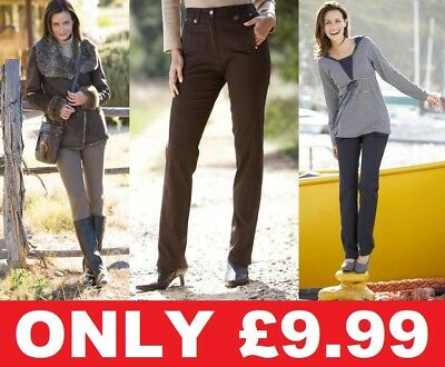 Ladies Simply Be Cotton Combat Jeans Chino Trousers Brown Khaki Green Black Navy
