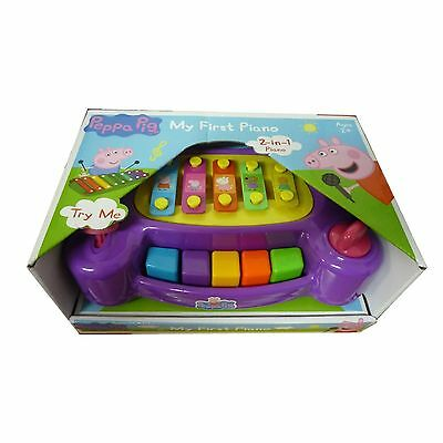 Peppa Pig Toy My First Piano 2 In 1 Piano Musical Fun Childs Instrument TOY NEW