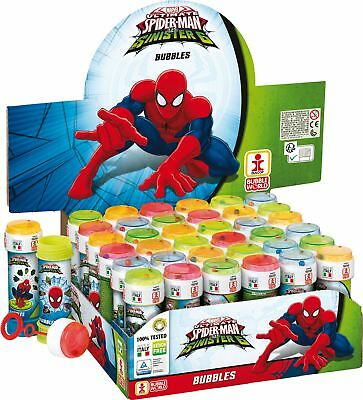 Spiderman Bubble Blowing Tubs Childrens Party Bag Filler Toys