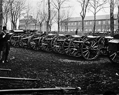 New 11x14 Civil War Photo: Park of Wiard Guns at the Arsenal in Washington
