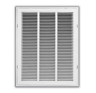 14 x 30 in White Return Air Vent Ventilation Filter Duct Wall Grille HVAC Cover