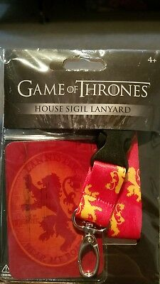 NIP Game of Thrones Lanyard ID Badge Holder HOUSE LANNISTER GoT Hear Me Roar