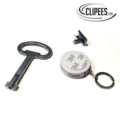 Rittal Double Bit Key with Clipees Key Holder Kit including Double Sided Tape