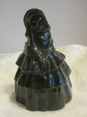 Boyd Art Glass Louise Colonial Lady Girl Southern Bell Doll Figurine Dark Green
