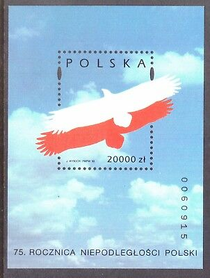 Poland 1993 Independence Stamp Sheet - 75th Anniversary