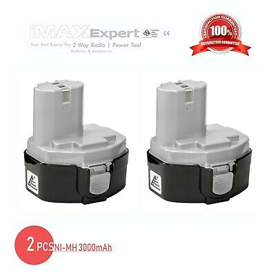 2 x 14.4V BATTERY FOR MAKITA 1433 1434 1435 1435F 14.4 VOLT 3.0AH