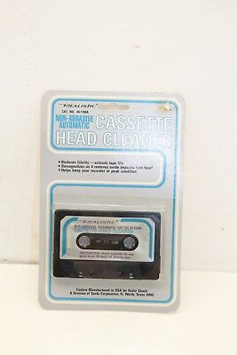 Realistic Brand Non Abrasive Automatic Cassette Tape Head Cleaner New Old Stock