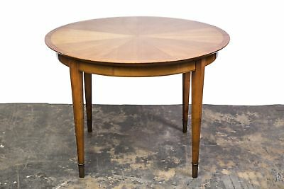 French Art Deco Sycamore Sunburst Dining Table by Dominique.