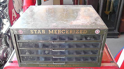 Vintage Star Merchandized Sewing Cotton American Thread Co. Glass / Metal Box