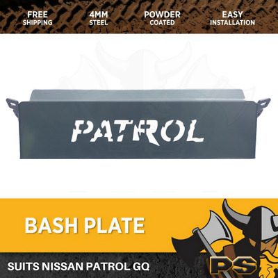 Steel Bash Plate Steering Guard Fit for Nissan GQ GU Patrol 4mm PREMIUM QUALITY