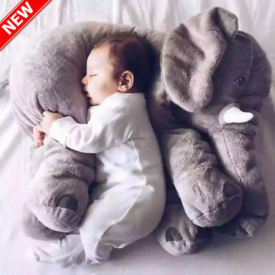 Baby Large Stuffed Elephant Plush Sleep Pillow Toy Doll Animals Pillow Cushion