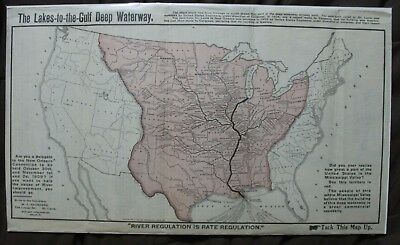 Rare Political map of the US from 1909, including quote from President Roosevelt