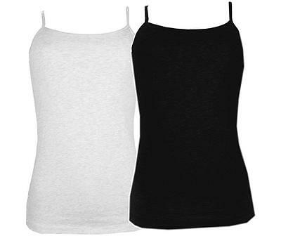 Maidenform Cotton Stretch Camisole Tank Top with Shelf Bra 2-Pack