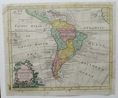Original 1785 Map of South American by Bowen