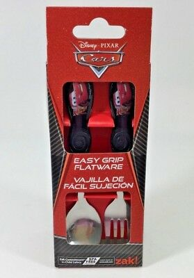 Disney Cars Kids Cutlery Easy Grip Flatware Spoon & Fork Set . Zak Designs