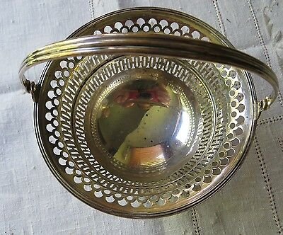 Sterling Silver Basket with Handle by Watson