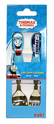 Thomas The Tank Kids Easy Grip Flatware Spoon & Fork Cutlery Set . Zak Designs